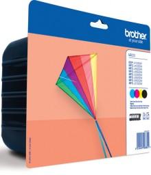Multipack 4 Farben LC-223 für DCP-J4120DW, DCP-J562DW,
