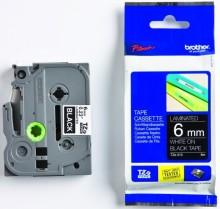 Schriftbandkassette TZE-315 6mm/8m weiß auf schwarz
