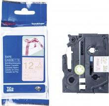 Schriftbandkassette TZE-RE34 12 mm x 4 m, Textilband