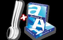 ANGEBOT: Kopierpapier Double A A4 80g hochweiß UND Esmeyer Mocca-/Espressolöffel-Set (12-teilig)