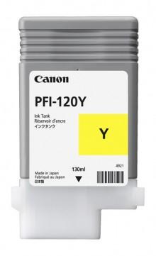 Tinte PFI-120Y, gelb für iPF TM200, TM205, TM300, TM305