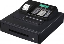 Kasse SE-S100SB für Handel, Bäckereien oder Friseur, schwarz, 4 Schein- und 8 Münzfächer