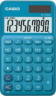 Taschenrechner SL 310UC, blau, 8-stelliges extra großes Display