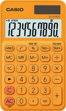 Taschenrechner SL 310UC, orange, 8-stelliges extra großes Display