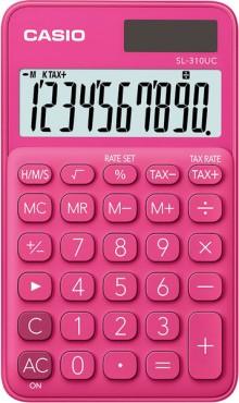 Taschenrechner SL 310UC, pink, 8-stelliges extra großes Display
