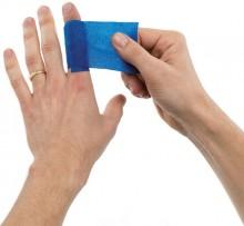 Weicher Schaumverband, 2 Stück, blau, 2 m x 6 cm