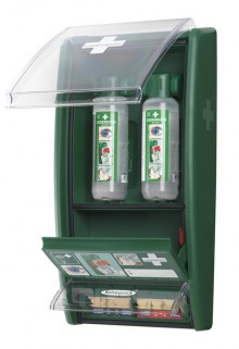 Augendusch-Station, mit 2 x 500 ml Spülflaschen