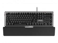 Tastatur Cherry MX Board 5.0 deutsch schwarz/silber, mit Handgelenkauflage