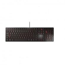 Tastatur Cherry KC 6000 Slim deutsch schwarz, Kabelgebunden