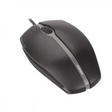 Optical Mouse Gentix, kabelgebunden, schwarz, 3 Tasten, Seiten aus Gummi