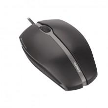Mouse Gentix silent, kabelgebunden, schwarz, 3 Tasten, Seiten aus Gummi