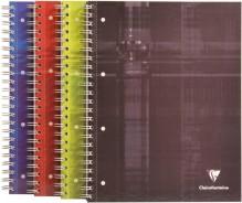 Konferenzblock A4 kariert 80 Blatt mit starkem Deckel, 4-fach Lochung