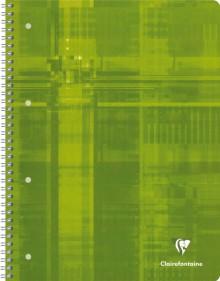 Collegeblock A4 kariert 80 Blatt Papier-Rand in 4 Farben, 90g/qm