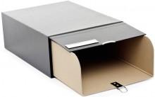 Archivkasten No.2 m. Schuber schwarz, inkl. beil. Verbindundsstiften und