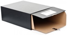 Urkundenkasten mit Schuber schwarz, inkl. beil. Verbindundsstiften und