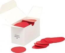 Siegelsterne rot, Ø 50 mm, gum. gewellter Rand