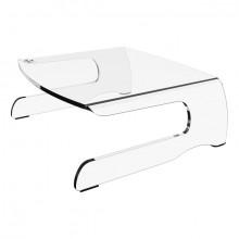 Monitorerhöhung Addit 550 acryl für Monitore bis 15kg, feste Höhe