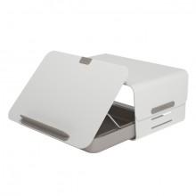 Schreibtischset Addit Bento weiß aus Toolbox und Monitorerhöhung