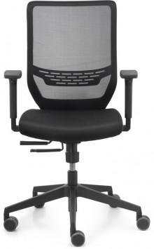 Bürodrehstuhl mit Armlehnen, Netz-Rückenlehne, 57cm