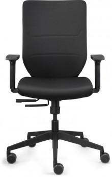 Bürodrehstuhl mit Armlehnen, Vollpolster-Rückenlehne, 57cm