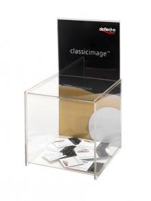 Vorschlag/Spende-Box mit Infoschild für A4 Maße: 215 x 213 x 388 mm