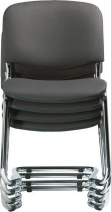 Polsterschwinger mit Chromgestell bequem gepolstertete Sitzschalen, dunkelgrau