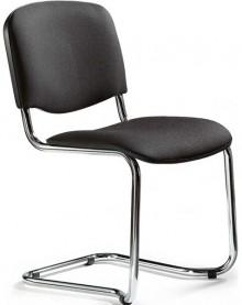 Polsterschwinger mit Chromgestell bequem gepolstertete Sitzschalen, schwarz