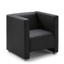 Sessel Zürich, Kunstleder schwarz Elegante Sitzmöbel