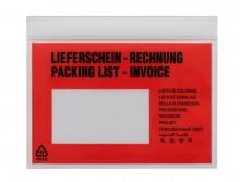 UNIPACK Begleitpapiertasche C6, mit Druck, Lieferschein/Rechnung