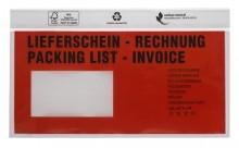 UNIPACK Begleitpapiertasche DIN Lang, mit Druck, Lieferschein/Rechnung