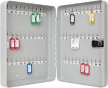 Schlüsselschrank für 60 Schlüssel lichtgrau, 3-stelliges Zahlenschloss