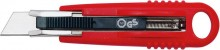 Cutter Safety Standard rot, incl. 2 Ersatzklingen, autom.Klingenrückzug