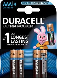 Batterie Alkaline, Micro, AAA LR03, 1.5V Ultra Power, Powercheck