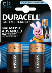 Batterie Alkaline, Baby, C LR14, 1.5V Ultra Power, Powercheck