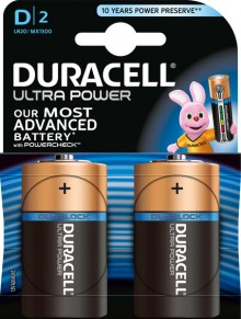 Batterie Alkaline, Mono, D LR20, 1.5V Ultra Power, Powercheck