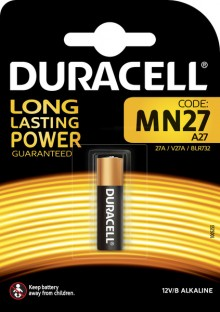 Batterie Alkaline MN27, V27A, 12V, Electronics