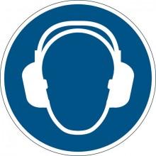 """Sicherheitskennzeichen """"Gehörschutz benutzen"""", blau, Ø 43cm,"""