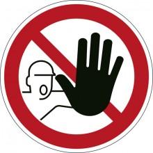 """Sicherheitskennzeichen """"Zutritt verboten"""", rot, Ø 43cm,"""