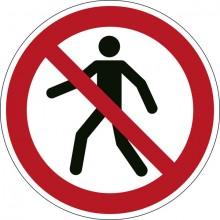 """Sicherheitskennzeichen """"Für Fußgänger verboten"""", rot, Ø 43cm,"""