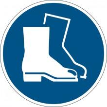 """Sicherheitskennzeichen """"Fußschutz benutzen"""", blau, Ø 43cm,"""
