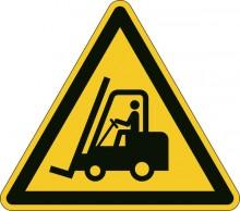 """Sicherheitskennzeichen """"Warnung vor Flurförderfahrzeugen"""", gelb, Kanten-"""