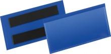 Magnetische Etikettentasche PP blau Format innen: 100x38mm