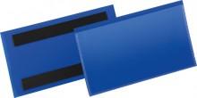 Magnetische Etikettentasche PP blau Format innen: 150x67mm