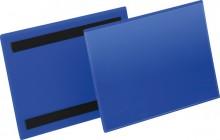 Magnetische Kennzeichnungstasche A5 quer, blau, Außenformat: 223x163mm