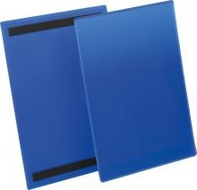 Magnetische Kennzeichnungstasche A4 hoch, blau, Außenformat: 223x313mm