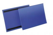 Magnetische Kennzeichnungstasche A4 quer, blau, Außenformat: 311x225mm