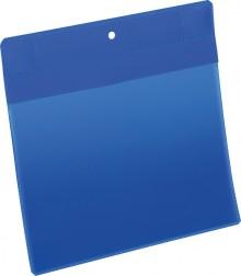 Neodym-Magnettasche A5 quer blau PP Außenformat: 223x218mm