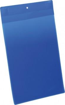Neodym-Magnettasche A4 hoch blau PP Außenformat: 223x368mm