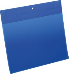 Neodym-Magnettasche A4 quer blau PP Außenformat: 311x280mm