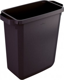 Abfallbehälter DURABIN 60 schwarz(recy.) 60Liter, rechteckig 555x615x285mm